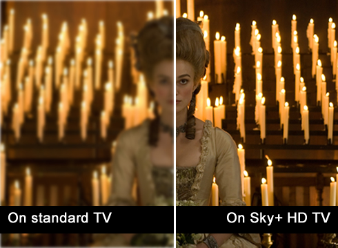 On the left, normal, on the right, HD?